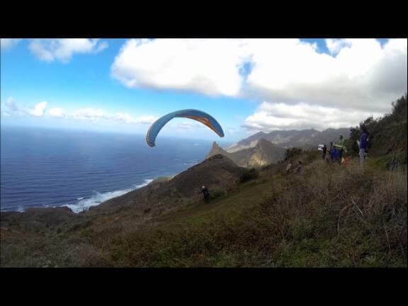 Salto en parapente Tenerife